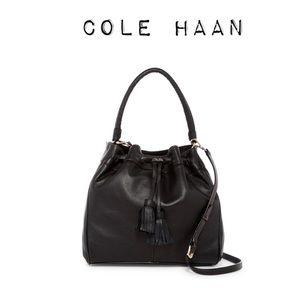 Large Cole Haan Drawstring Bucket Bag